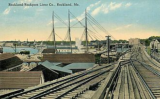 Rockland, Maine - Rockland-Rockport Lime Co. c. 1912
