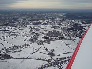 Ardennes (department) - Rocroi in the snow: a common situation in winter in the northern Ardennes department.