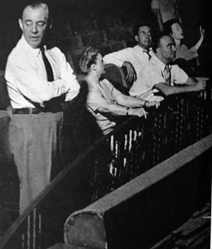 Allegro (musical) - Rodgers (nearest to camera) and others at a rehearsal for Allegro