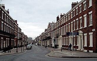 Rodney Street, Liverpool - Rodney Street, at junction with Upper Duke Street