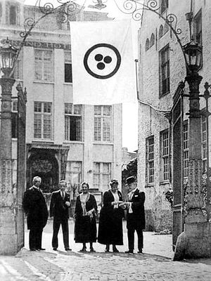 Roerich Pact - Delegates of Second international conference dedicated to the Roerich Pact. Bruges, August 1932.