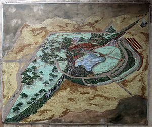 Roma Street Parkland - Image: Roma Street Parkland mosaic map