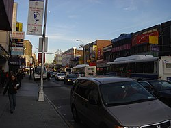 Roosevelt Avenue is one of the main commercial streets in Flushing.