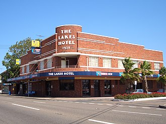 Rosebery, New South Wales - The Lakes Hotel (1938), Gardeners Road
