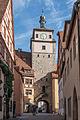 Rothenburg ob der Tauber, Stadtbefestigung, Weißer Turm, Stadtseite-20160108-002.jpg