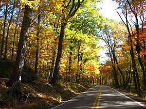 Pennsylvania Route 130 - Autumn colors near Stahlstown on PA 130