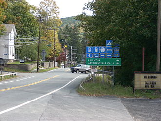 Callicoon (CDP), New York - Route 97 in Callicoon