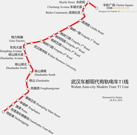 Route map of Auto-city T1 Line.png