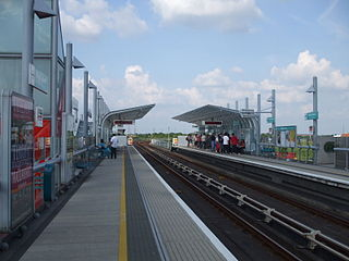 Royal Albert DLR station Docklands Light Railway station