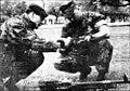 Royal Bermuda Regiment Sergeant and US Marines Sergeants 1989.jpg