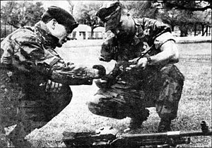 2nd Reconnaissance Battalion (United States Marine Corps) - Sergeant Peter Aldrich of the Reconnaissance Platoon of the Royal Bermuda Regiment and Sergeant Paul Moose, a team leader in Bravo Company of the 2nd Recon at Camp Lejeune in Jacksonville, North Carolina, in 1989.