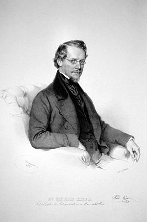 Rudolf Kner - Rudolf Kner Lithography by Josef Kriehuber, 1852