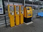 Ruzyně, letiště, zastávka Terminál 1, automaty na jízdenky.jpg