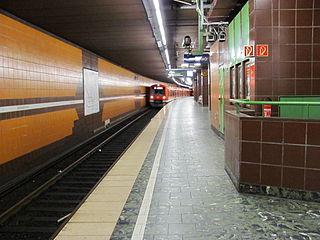 Königstraße station railway station in Hamburg, Germany