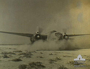 No. 3 (S.A.) Wing - Image: SAAF Boston takeoff Libya June 1942 AWM MED0451