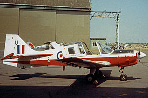 Cambridge University Air Squadron - Cambridge UAS Bulldog T.1 at the unit's 1984 Summer Camp