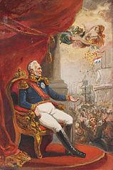1818, zegeningen van koning Willem I