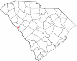 Location of Parksville, South Carolina