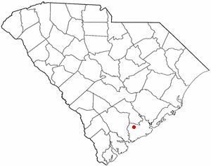 Ravenel, South Carolina - Image: SC Map doton Ravenel