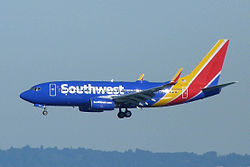 Boeing 737-700 der Southwest Airlines