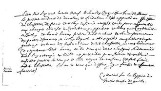 Jean de Quen - 22-Feb-1639 Handwriting Sample