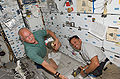 STS-119 Day 5 John Phillips and Joseph Acaba.jpg