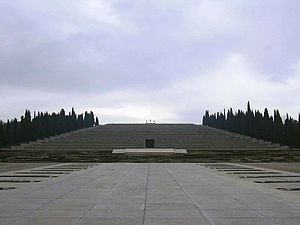 Fogliano Redipuglia - The military cemetery of Redipuglia, resting place of approximately 100,000 Italian soldiers. More than 650,000 died on the battlefields of World War I.