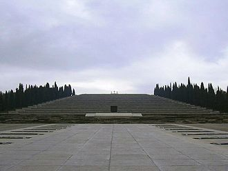 Fogliano Redipuglia - The Redipuglia War Memorial, resting place of approximately 100,000 Italian soldiers. More than 650,000 died on the battlefields of World War I.