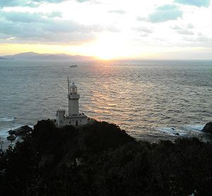 Sadamisaki Peninsula - The Sadamisaki Lighthouse stands at the tip of the peninsula