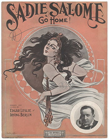 """Sadie Salome (Go Home)"" sheet music..."