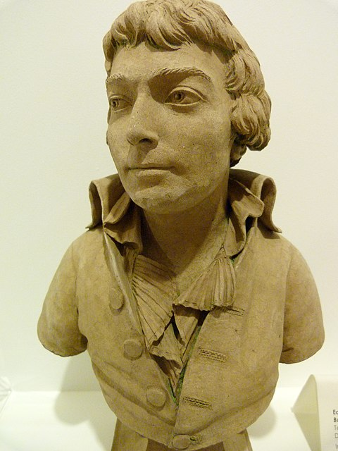 Terracotta bust of Saint-Just at the Musee Lambinet in Versailles. Saint-Just musee Lambinet.jpg