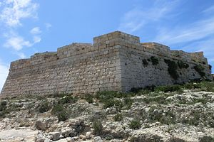 Saint Anthony's Battery - The battery's semi-hexagonal front