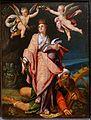Saints Catherine, Ursula, and Margaret set (Saint Catherine), by Bartholomaeus Spranger, Prague, c. 1583, oil on panel - Blanton Museum of Art - Austin, Texas - DSC07747.jpg