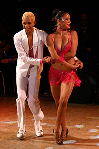 Salsa dancers Kevin and Sarahi dancing. Reevolution XIII Cali ...