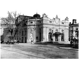 Salzburger Landestheater - State Theater Salzburg, built by Fellner and Helmer (Photo from: 1893-1900)