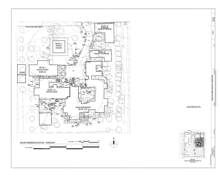 File:Sam and Alfreda Maloof Compound, 9553 Highland Avenue, Rancho Cucamonga, San Bernardino County, CA HABS CAL,36-RANCU,3- (sheet 2 of 6).png