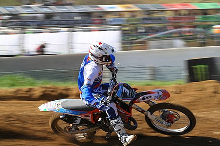 Samuele Bernardini -motocross rider from Italy, KTM Class EMX 125, GP of Bulgaria 2011