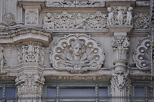 Orpheum Theatre (San Francisco) - Detail of the building's facade
