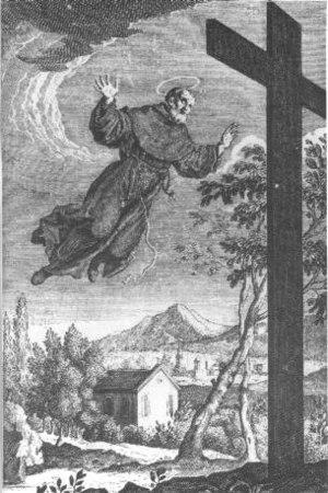 Supernatural - Image: San Giuseppe di Copertino 18th century engraving