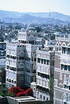 Sana'a, the capital of Yemen, is located in a mountainous region, and is designated a World Heritage Site for its architecture