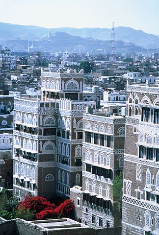 The old city of Sana'a, Yemen.