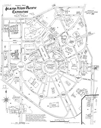 Alaska–Yukon–Pacific Exposition - Sanborn map of the A-Y-P grounds. This extremely detailed map was created for insurance purposes.