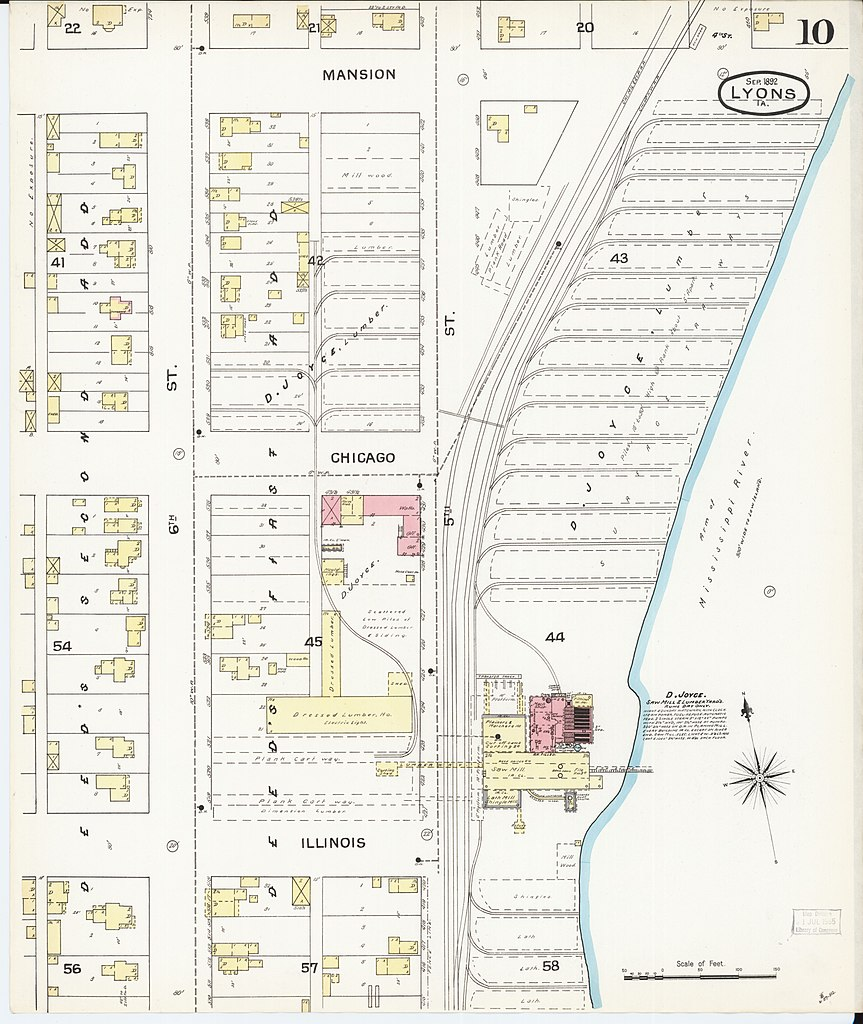 Lyons Illinois Map.File Sanborn Fire Insurance Map From Lyons Clinton County Iowa