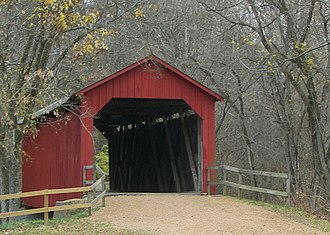 National Register of Historic Places listings in Jefferson County, Missouri - Image: Sandy creek covered bridge 02