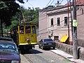 Santa Teresa tramway car 01 headed for carhouse on Rua Carlos Brant in 2004.jpg