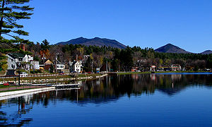 Lake Flower in Saranac Lake, New York. Taken b...
