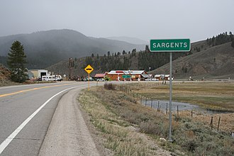 Sargents, Colorado - Entering Sargents from the north.