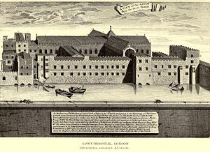 Savoy Palace - Savoy Hospital, from Vetusta Monumenta.