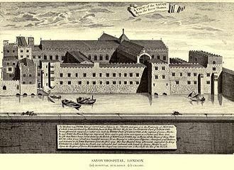 Savoy Palace - Savoy Hospital, from Vetusta Monumenta.