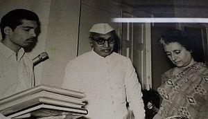 Sayyid Ahmedullah Qadri - Padamshri Sayyid AhmedUllah Qadri (M.L.C) With then Prime Minister Indira Gandhi